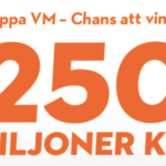 vinn 250 miljoner kronor